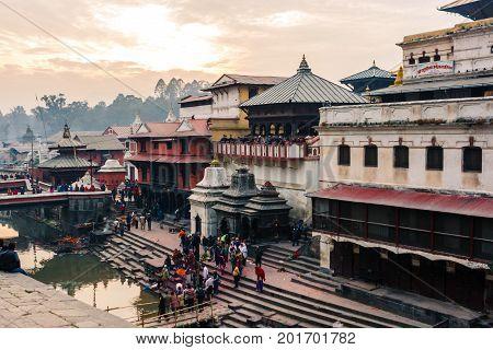 Ghats In Pashupatinath, Kathmandu, Nepal