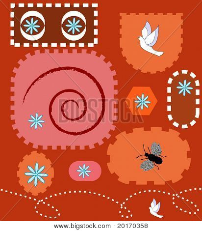 funky fun shapes vector easily editable