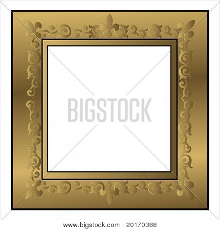 antique picture frame vector