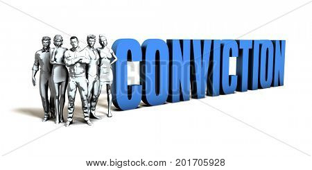 Conviction Business Concept as a Presentation Background 3D Illustration Render