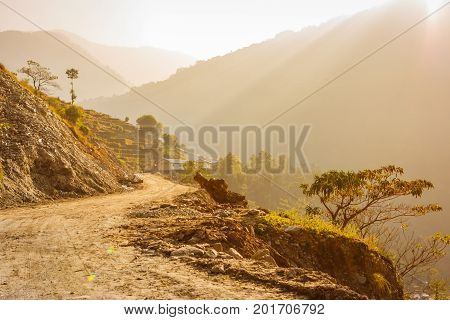 Trail On On The Annapurna Base Camp Trek, Nepal
