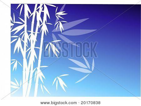 bamboo on blue vector