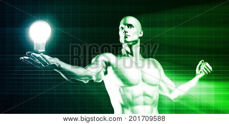 Innovation or Innovative Background as a Concept 3D Illustration Render