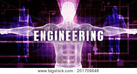 Engineering as a Digital Technology Medical Concept Art 3D Illustration Render
