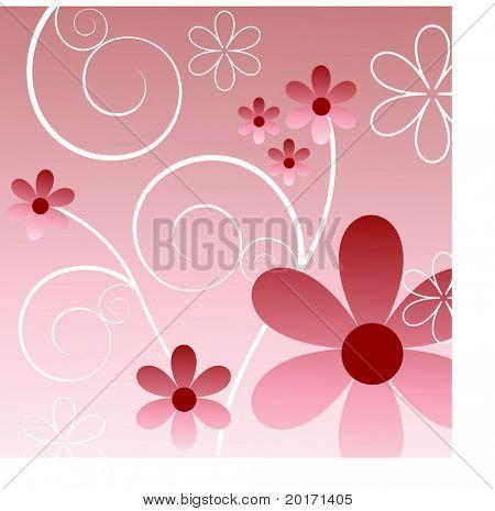 pink flower fun vector