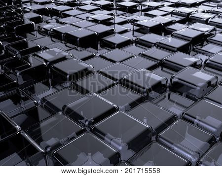 Glass Box Abstract Background