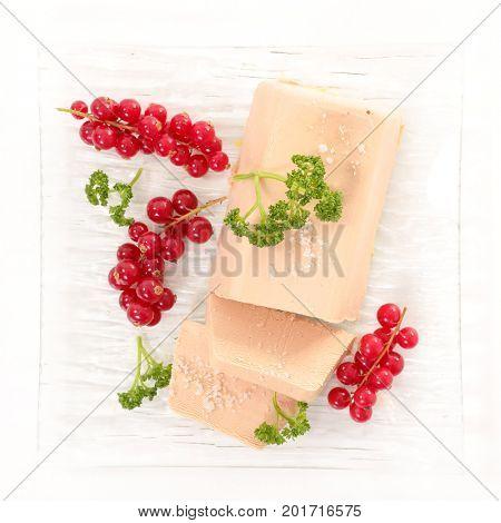 foie gras and redcurrant