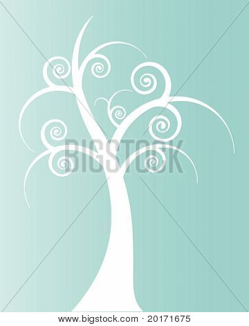 funky treetrunk vector