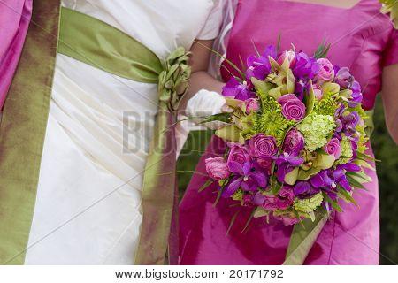 flowegirls with flowers