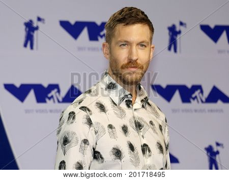 Calvin Harris at the 2017 MTV Video Music Awards held at the Forum in Inglewood, USA on August 27, 2017.