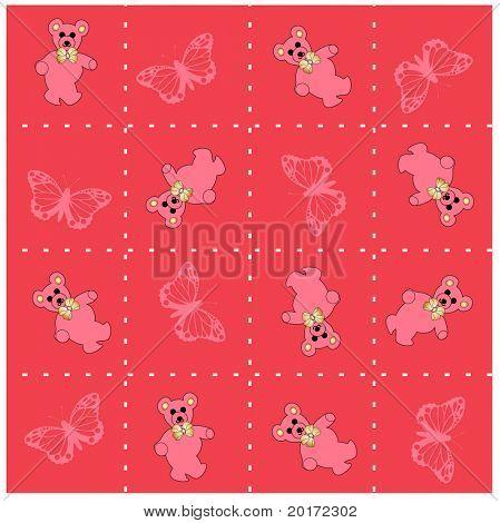 baby blank pink vector