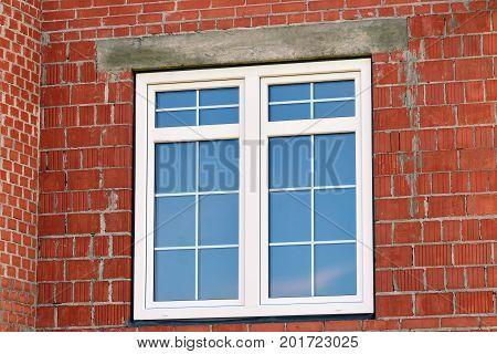 Modern fiberglass window in the new house