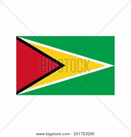 Guyana flag on the white background. Vector illustration