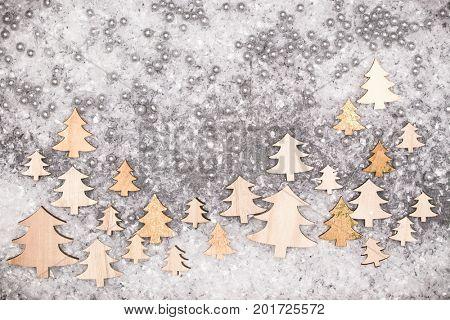 Christmas greeting card. Noel festive background. New year symbol. Christmas tree.
