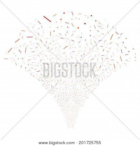 Source of lines and dots icons. Vector illustration style is flat intensive red and orange iconic symbols on a white background. Object source organized from confetti design elements.