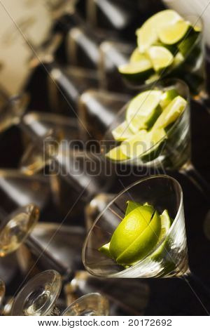 lime in martini