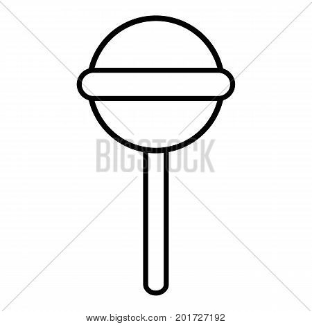 Round lollipop icon. Outline illustration of round lollipop vector icon for web