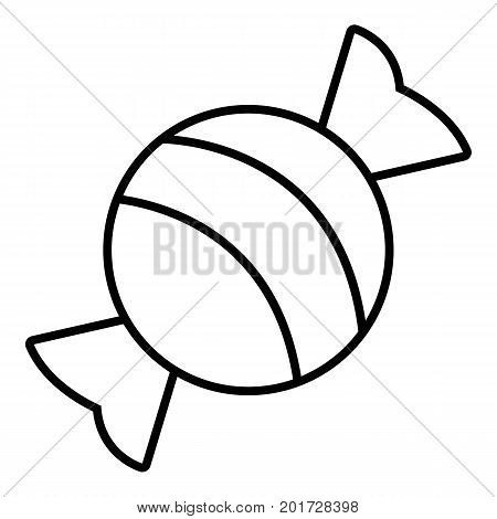 Round candy icon. Outline illustration of round candy vector icon for web