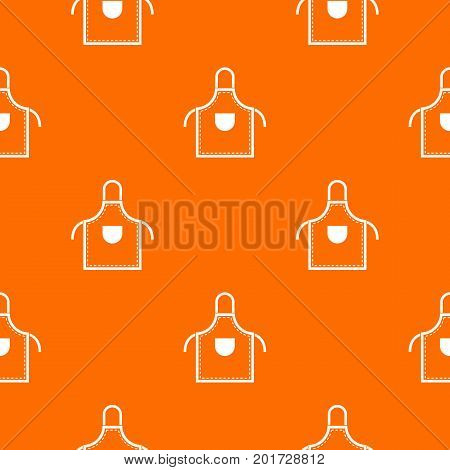 Welding apron pattern repeat seamless in orange color for any design. Vector geometric illustration