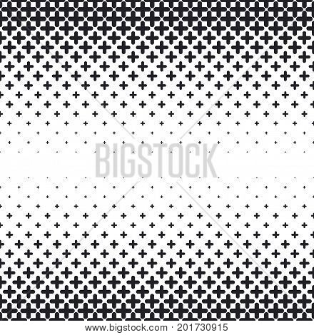 Vector halftone abstract background, black white gradient gradation. Geometric mosaic hexagon shapes monochrome pattern. Simple backdrop design.