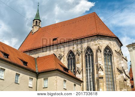 Franciscan monastery in Regensburg - Bavaria, Germany. Nowadays it is the historical museum