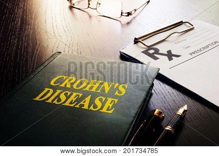 Book about Crohn's disease as type of inflammatory bowel disease (IBD).