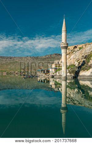 Sunken village Halfeti in Gaziantep Turkey