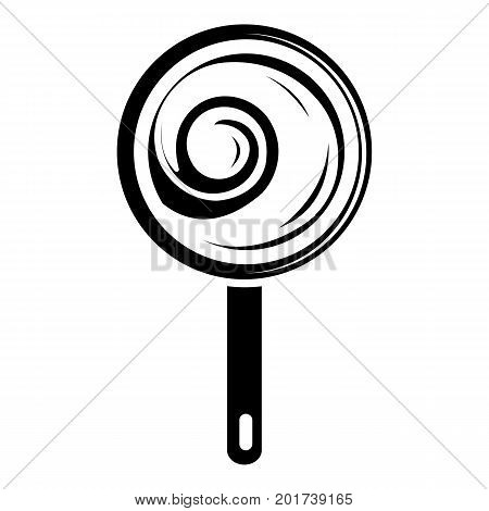 Lollipop icon. Simple illustration of lollipop vector icon for web