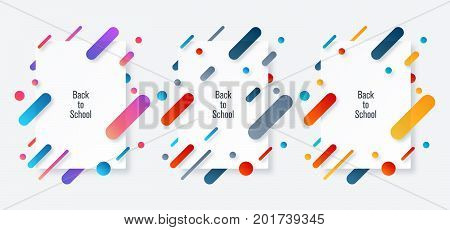 Back to school banner. Stock vector eps 10
