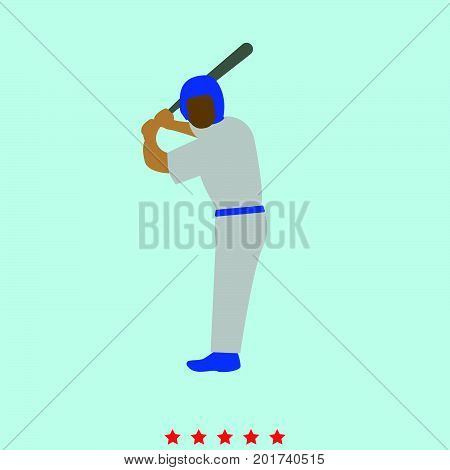 Ballplayer  Set  It Is Color Icon .