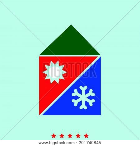 Home Cooling And Heating System  Set  Icon .