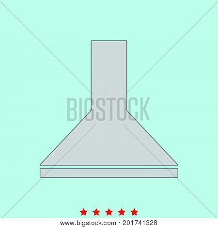 Exhaust Hood  Set  It Is Color Icon .