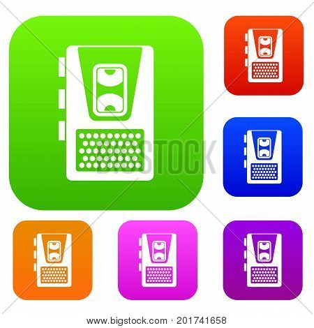 Dictaphone set icon in different colors isolated vector illustration. Premium collection