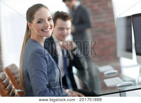 concept of the problem. frustrated woman in the office