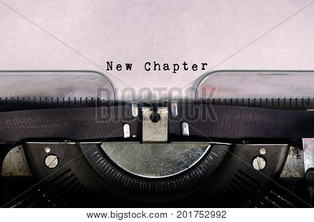 New Chapter Typed On A Vintage Typewriter
