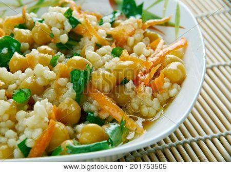 Curried Couscous Salad,  close up,  meal  cuisine