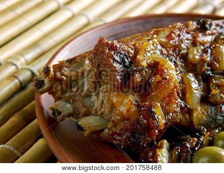 Roast Lamb With Laver Sauce