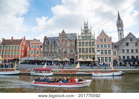 The Graslei Is One Of The Most Scenic Places In Ghent's Old City Centre