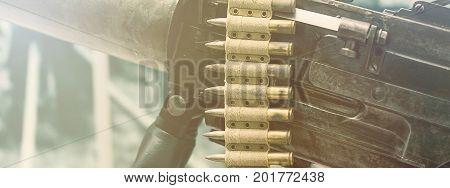 Old machine Gun. First World War Machine gun.