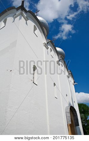 Sofia Cathedral Vologda Kremlin. Russian  summer  tourism
