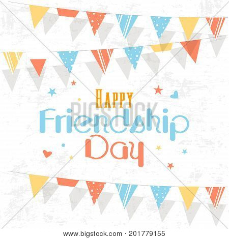 Happy friendship day. Vector background. Friends are friends