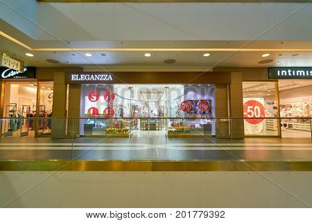 SAINT PETERSBURG, RUSSIA - CIRCA AUGUST, 2017: a store at Galeria shopping center. Galeria is major shopping and entertainment center is located in downtown of St. Petersburg