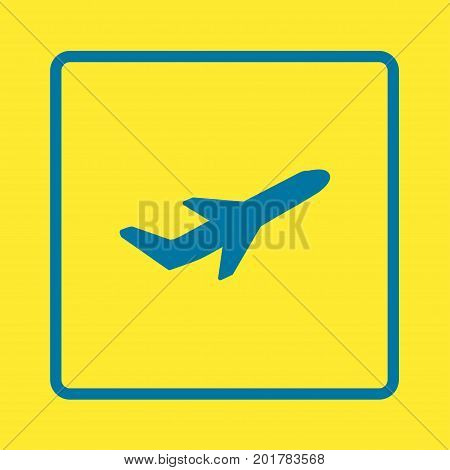 Airplane flight tickets air fly travel takeoff silhouette element. Plane symbol. Travel icon. Flat design.