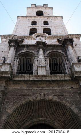 Havana, Cuba, August 2017:church of San Francisco de Asis