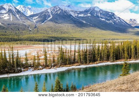 Banff, Alberta, River, Alberta Mountains, National Parks,