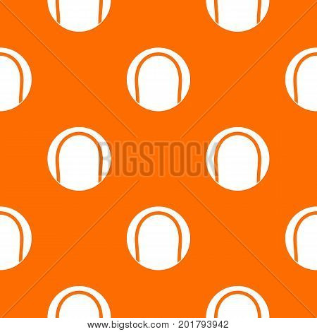 Black and white tennis ball pattern repeat seamless in orange color for any design. Vector geometric illustration