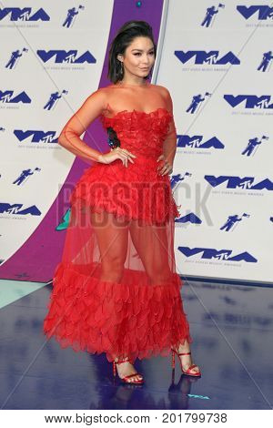 LOS ANGELES - AUG 27:  Vanessa Hudgens at the MTV Video Music Awards 2017 at The Forum on August 27, 2017 in Inglewood, CA