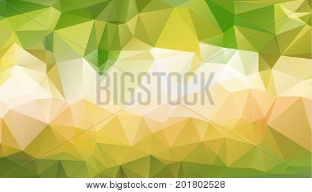 Abstract green which consist of triangles. Geometric background in Origami style with gradient. Triangular design for your business.