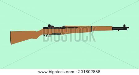 usa america riffle ww2 world war 2 m1 garand springfield vector
