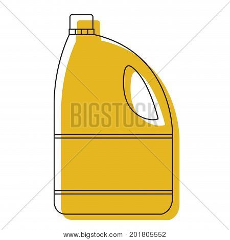 yellow watercolor silhouette of bleach clothes bottle vector illustration